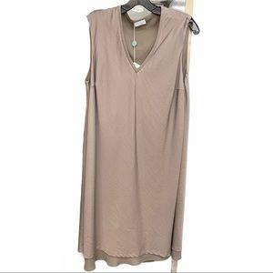 Brunello Cucinelli Sleeveless V-neck Shift Dress